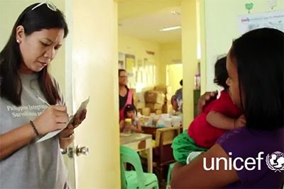 """""""Before the typhoon, our health unit had about 40 to 50 patients a day. But since, every day we have more than 100,"""" says Judith Dalton (left), a nurse in the central Philippines town of Estancia"""